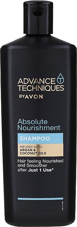 Shampooing à l'huile d'argan et de noix de coco - Avon Advance Techniques Absolute Nourishment Shampoo