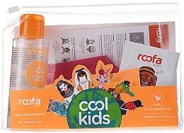 Parfums et Produits cosmétiques Roofa Cool Kids - Set (désinfectant pour les mains à l'aloe vera/100ml + gel shampooing à l'aloe vera/3g + masque de protection rouge 1pc.)