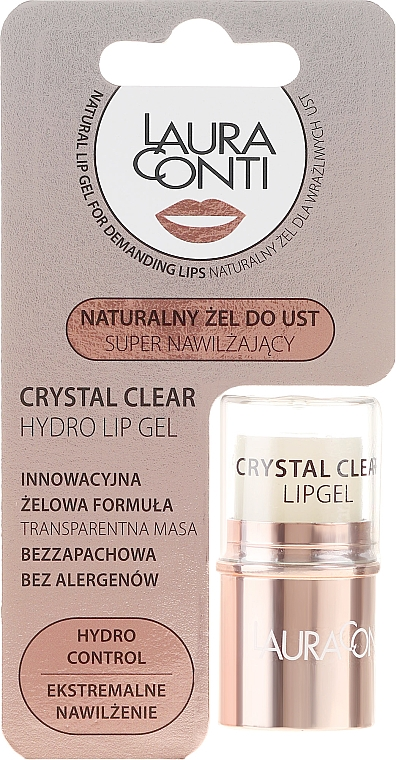 Gel hydratant pour les lèvres - Laura Conti Crystal Clear Hydro Lip Gel — Photo N1