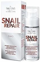Parfums et Produits cosmétiques Concentré au mucus d'escargot pour visage - Farmona Professional Snail Repair Active Rejuvenating Concentrate With Snail Mucus