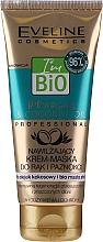 Parfums et Produits cosmétiques Crème-masque bio à l'huile d'argan et de noix de coco pour mains et ongles - Eveline Cosmetics Bio Argan&Coconut Oil Hand Cream Mask