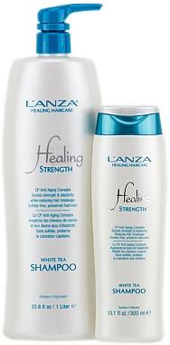 Shampooing au thé blanc pour cheveux longs ou faibles - Lanza Healing Strength White Tea Shampoo — Photo N3