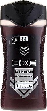 Gel douche 3 en 1 visage, corps et cheveux pour homme - Axe Carbon Shower Gel