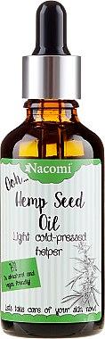 Huile de graines de chanvre pressée à froid avec pipette - Nacomi Hemp Seed Oil