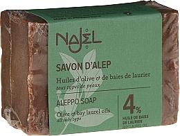 Parfums et Produits cosmétiques Savon d'Alep à l'huile d'olive et laurier pour visage et corps - Najel 4% Aleppo Soap