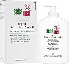 Parfums et Produits cosmétiques Fluide nettoyant au panthénol pour visage et corps - Sebamed Liquid Face and Body Wash