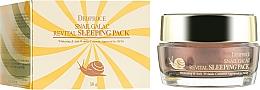 Parfums et Produits cosmétiques Masque de nuit à la mucine d'escargot pour visage - Deoproce Snail Galac-Tox Revital Sleeping Pack