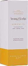 Parfums et Produits cosmétiques Spray d'ambiance, Citronnelle et Géranium - AromaWorks Serenity Room Mist