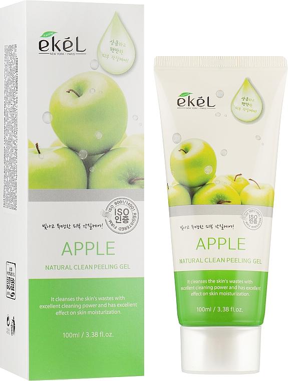 Gel exfoliant à l'extrait de pomme pour visage - Ekel Apple Natural Clean Peeling Gel — Photo N1