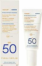 Parfums et Produits cosmétiques Crème-gel solaire pour visage et contour des yeux - Korres Yoghurt Sunscreen Face & Eyes Cream Gel SPF50