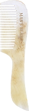 Parfums et Produits cosmétiques Peigne à moustache et barbe, blanc-beige - Man's Beard Moustache And Beard Comb