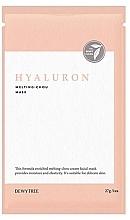 Parfums et Produits cosmétiques Masque tissu à l'acide hyaluronique pour visage - Dewytree Hyaluron Melting Chou Mask