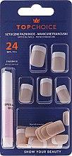 Parfums et Produits cosmétiques Kit de faux ongles avec colle French, 74073 - Top Choice