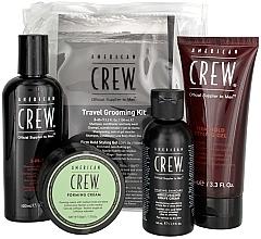 Parfums et Produits cosmétiques American Crew Travel Grooming Kit - Kit format de voyage (gel coiffant/100 ml + crème coiffante/50 g + gel douche/100 ml+ crème à raser/50 ml)