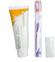 White Glo Smokers Formula Whitening Toothpaste - Set (dentifrice blanchissant /100ml + brosse à dents blanc-violet) — Photo N3