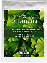 Parfums et Produits cosmétiques Masque tissu en soie au ginkgo biloba et aloe pour visage - Orientana Silk Cloth Face Mask Ginkgo Biloba & Aloe