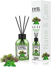 Parfums et Produits cosmétiques Bâtonnets parfumés, Menthe - Eyfel Perfume Reed Diffuser Mint