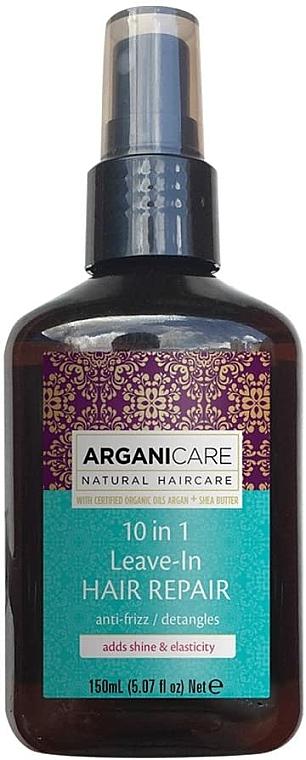 Sérum au beurre de karité pour cheveux - Arganicare Shea Butter 10 in 1 Leave-In Hair Repair Anti-Frizz