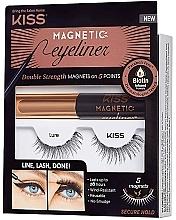 Parfums et Produits cosmétiques Set (eyeliner/5g + faux cils) - Kiss Magnetic Eyeliner & Lash Kit Lure