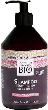 Shampooing à la grenade et baies d'açaï - Renee Blanche Natur Green Bio Illuminante Shampoo — Photo N1