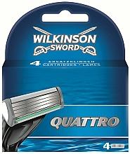 Parfums et Produits cosmétiques Lames de rechange pour rasoir, 4 pcs - Wilkinson Sword Quattro Cartridge Razor Blades