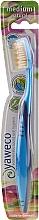 Parfums et Produits cosmétiques Brosse à dents, medium, bleu - Yaweco Toothbrush Natural Medium
