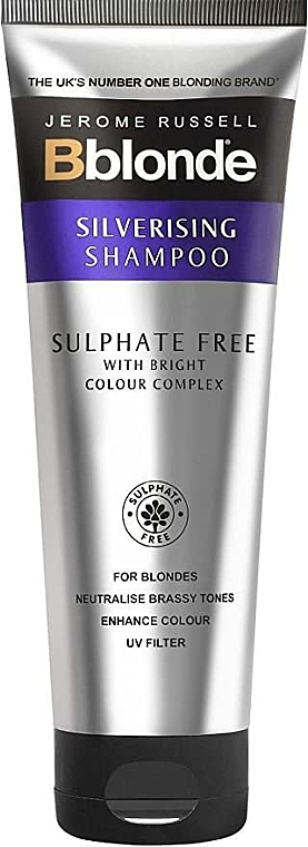 Shampooing déjaunissant sans sulfates - Jerome Russell Bblonde Silverising Sulphate Free Brightening Shampoo
