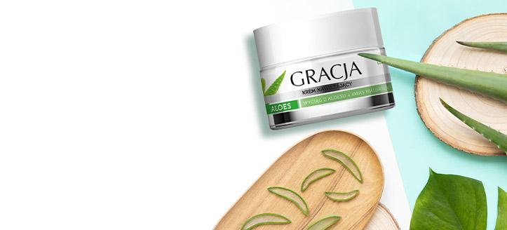 Recevez en cadeau une crème hydratante à l'achat de produits Gracja à partir de 8 €