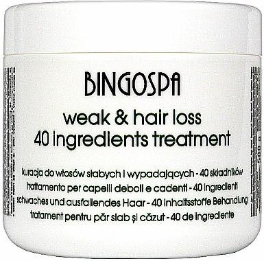 Traitement aux 40 principes actifs pour cheveux - BingoSpa Treatment For Hair