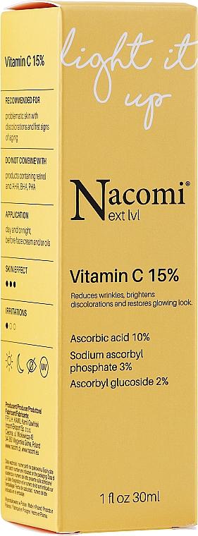 Sérum à la vitamine C 15 % pour visage - Nacomi Next Level Vitamin C 15%