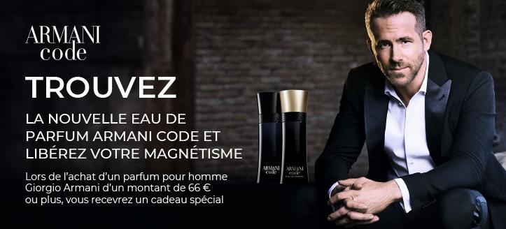 Lors de l'achat d'un parfum pour homme Giorgio Armani d'un montant de  66 €  ou plus, vous recevez une miniature de Because It's You en cadeau
