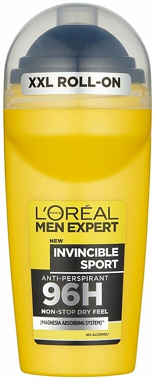Déodorant roll-on sans alcool - L'Oreal Paris Men Expert Invincible Sport 96H Roll On
