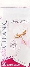 Parfums et Produits cosmétiques Disques démaquillants Pure Effect, 50 pcs - Cleanic Face Care Cotton Pads