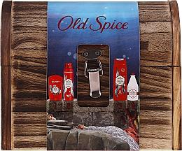 Parfums et Produits cosmétiques Coffret cadeau - Old Spice Deep Sea Wooden Chest (deo/spray/150ml + deo/50g + sh/gel/250ml + ash/lot/100ml)