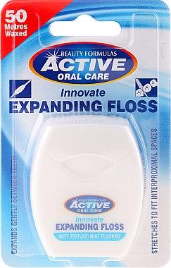 Fil dentaire à la menthe - Beauty Formulas Active Oral Care Expanding Floss Mint With Fluor 50m