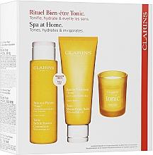 Parfums et Produits cosmétiques Coffret cadeau - Clarins Aroma Ritual Set (sh/conc/200ml + b/balm/200ml + candle/50g)