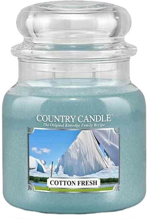 Bougie parfumée en jarre, Coton frais - Country Candle Cotton Fresh — Photo N1