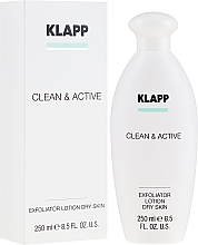Parfums et Produits cosmétiques Lotion tonique exfoliante pour visage - Klapp Clean & Active Exfoliator Dry Skin