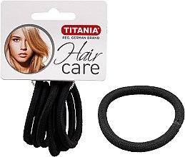 Parfums et Produits cosmétiques Élastiques à cheveux, 6 pcs, noir, 6 mm - Titania
