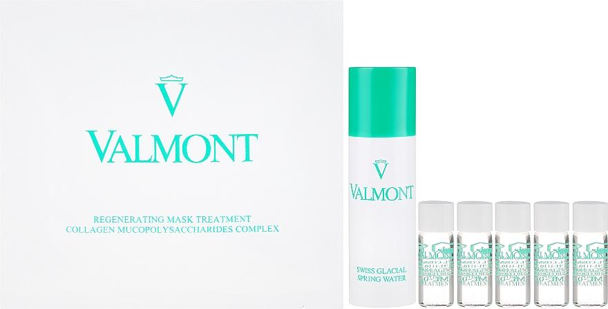 Valmont Intensive Care Regenerating Mask Treatment - Coffret(masque tissu/5x35g + ampoule après traitement/5x1.8ml + eau de source suisse/60ml) — Photo N2