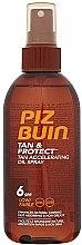 Parfums et Produits cosmétiques Huile accélératrice de bronzage en spray - Piz Buin Tan&Protect Tan Accelerating Oil Spray SPF6