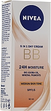 Parfums et Produits cosmétiques BB crème à l'huile de jojoba bio - Nivea 5in1 BB Day Cream 24H Moisture SPF 15