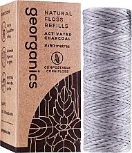 Parfums et Produits cosmétiques Fil dentaire au charbon actif, 2x50 m - Georganics Natural Charcoal Dental Floss (recharge)