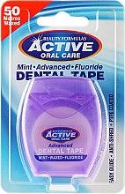 Parfums et Produits cosmétiques Fil dentaire ciré goût menthe, 50m - Beauty Formulas Active Oral Care Advanced Mint Waxed Fluor 50 m