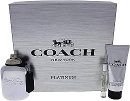 Parfums et Produits cosmétiques Coach Platinum - Coffret (eau de parfum/100ml + eau de parfum/7.5ml + gel douche/100ml)