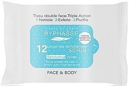 Parfums et Produits cosmétiques Lingettes exfoliantes pour visage et corps - Byphasse Exfoliating Wipes All Skin Type