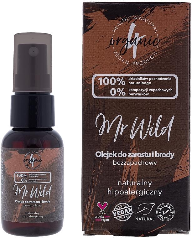 Huile hypoallergénique pour cheveux et barbe, inodore - 4Organic Mr Wild