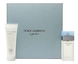 Parfums et Produits cosmétiques Dolce & Gabbana Light Blue - Coffret cadeau (eau de toilette/100ml + crème corps/100ml)