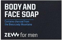 Parfums et Produits cosmétiques Savon au charbon actif pour visage et corps - Zew For Men Body And Face Soap