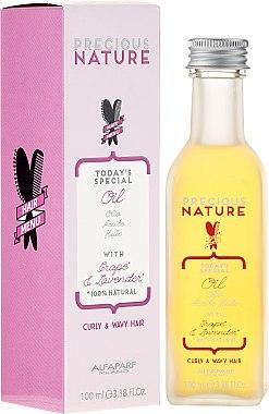 Huile au raisin et lavande pour cheveux - Alfaparf Precious Nature Oil Curly & Wavy Hair Grape & Lavender